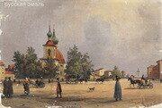 Перро (Perrot) Фердинанд Виктор (1808-1841). Петербург. Троицкая площадь. 1840-1841 годы.