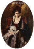 Маковский Константин Егорович (1839-1915). Портрет жены художника. 1890-е годы.
